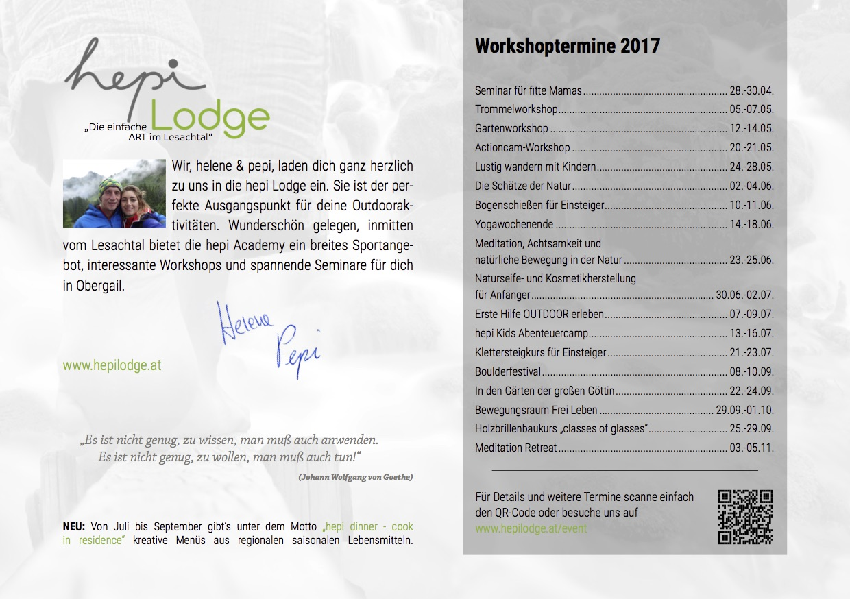 Workshoptermine 2017